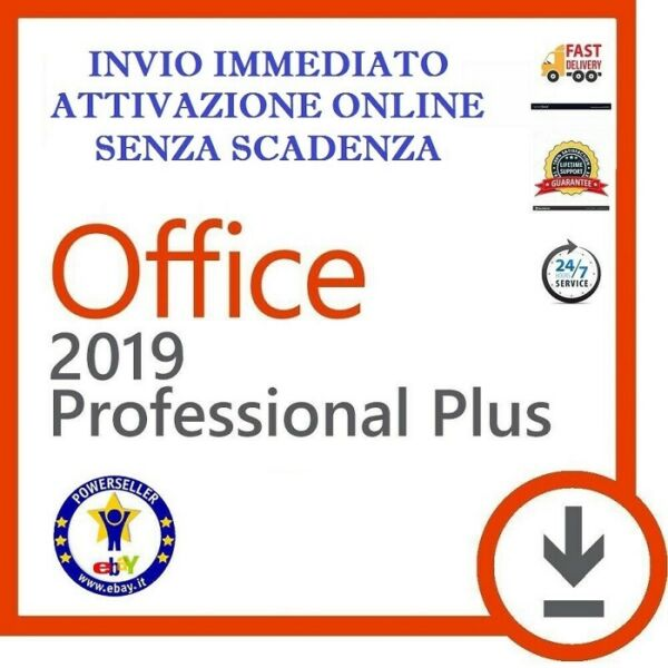 LICENZA MICROSOFT OFFICE 2019 PROFESSIONAL PLUS 32 / 64 BIT CODICE ESD ORIGINALE