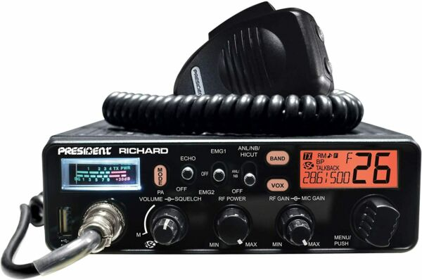 PRESIDENT RICHARD 10 Meter Ham Radio, 50W PEP AM/FM