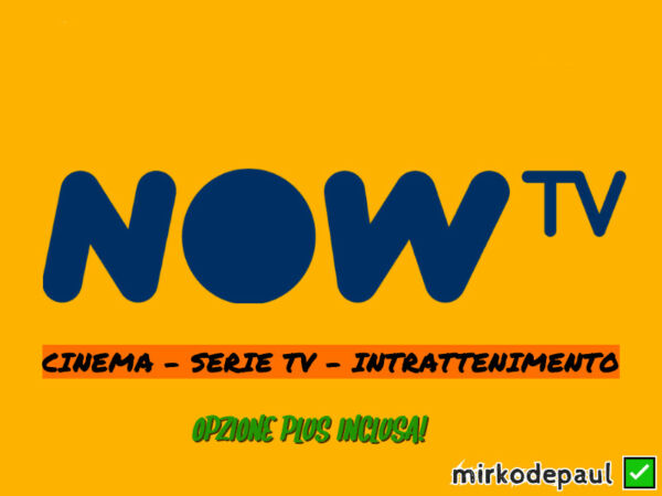 NOW TV 7 GIORNI CINEMA SERIE TV INTRATTENIMENTO KIDS - COUPON NOWTV SMART STICK✅