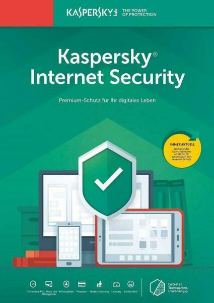 Kaspersky Internet Security 2020 1 PC 1 Geräte 1 Jahr Vollversion Antivirus