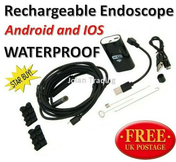 WI-FI Endoscope Android & IOS Compatable, 3.5M Length  Waterproof LED 5324