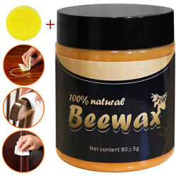 Kyпить Natural Wood Seasoning Beeswax For Polish Furniture Cleaning with sponge  на еВаy.соm