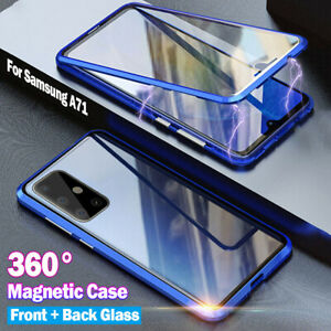 Magnet Hülle Samsung Galaxy A51/A71/A50/S Full Cover 360 Grad Glas Handy Case