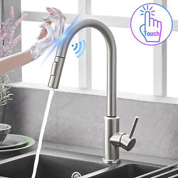 Kyпить Automatic Touch Sensor Kitchen Faucet with Pull down Sprayer Stainless Steel на еВаy.соm