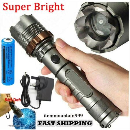 img-Ultra Brightest 990000LM Flashlight LED Tactical Torch Lamp Light Rechargeable