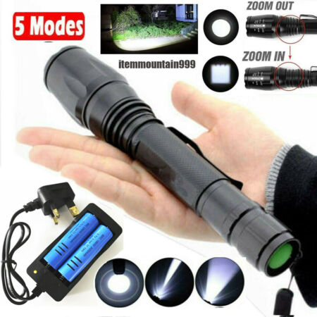 img-Ultra Brightest 990000LM Flashlight LED Light Tactical Rechargeable Torch Lamp