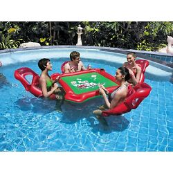 Kyпить Inflatable Poker Game Floating Table for Swimming Pool Party Play Cards Games на еВаy.соm