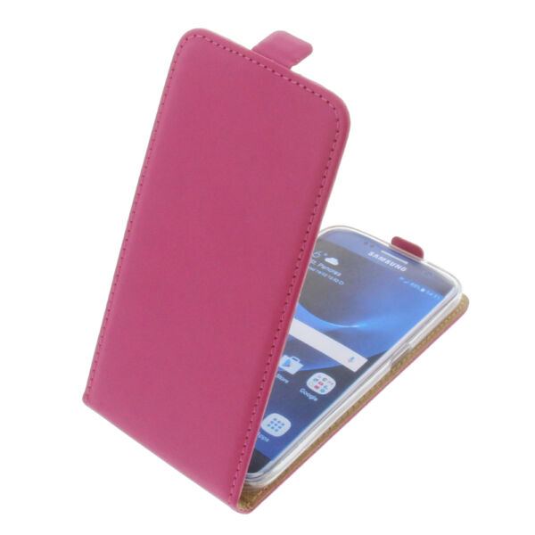 AllemagneCase for  Galaxy S7 Flipstyle Cell Phone Protective Flip Pink