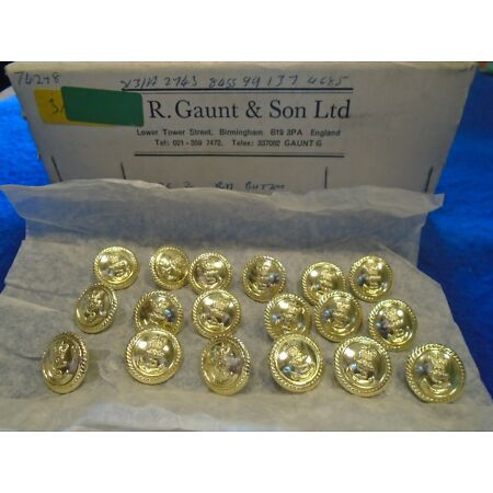 img-18 X NEW ROYAL NAVY 19MM ANODISED GOLD OFFICERS JACKET/BLAZER NAVAL BUTTONS