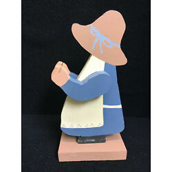 Vintage Country Blue Wooden Grandma Recipe Card Holder Home Decoration