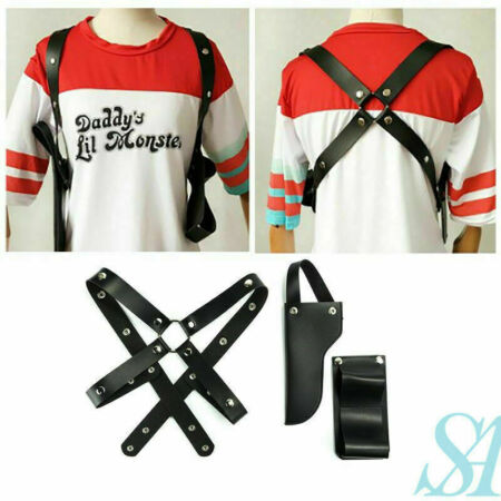 img-Suicide Squad Harley Quinn Gun Costume Straps Sheath Case Belt Cosplay Party