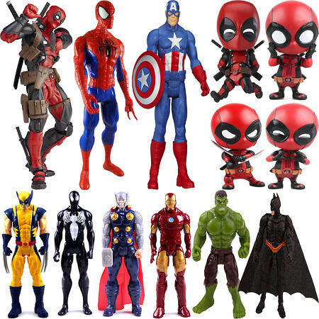 img-Superhero Spiderman Captain America Avengers Action Figure Batman Hulk Kids Toys