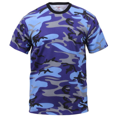 img-t-shirt camo electric blue cotton poly blend camouflage rothco 60173