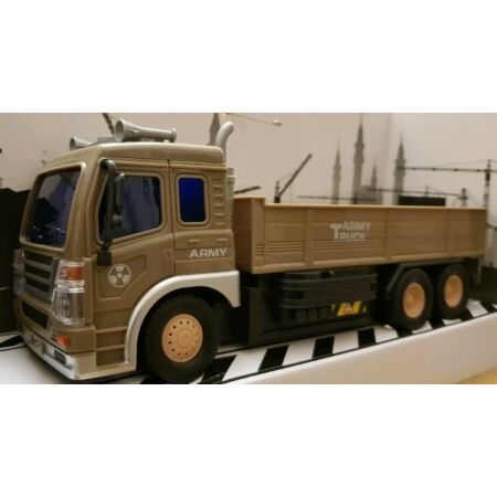 img-ARMY MILITARY TRUCK LORRY Radio Remote Control Car LED LIGHTS GIRLS BOYS TOYS