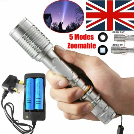 img-Ultra Brightest 990000Lumens Police Flashlight LED Tactical T6 Torch Lamp Light