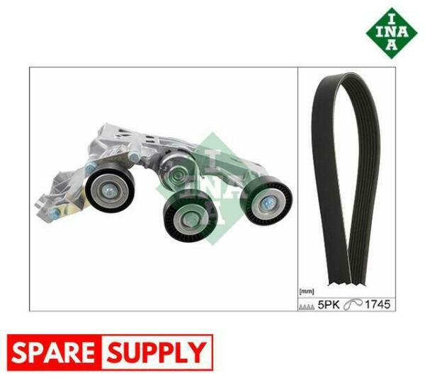 LituanieV-RIBBED BELT SET FOR MERCEDES-BENZ INA 529 0148 10