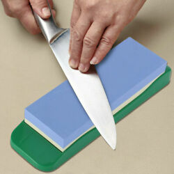 Kyпить Premium Whetstone Sharpening Stone 1000/3000 Knife Sharpener W/ Plastic Holder  на еВаy.соm