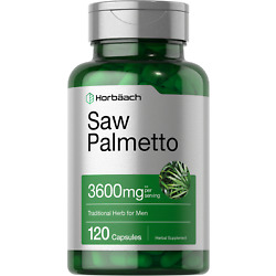 Saw Palmetto Extract 3600mg | 120 Capsules | Prostate Supplement | by Horbaach