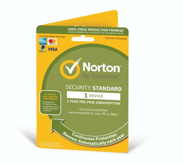 Royaume-UniNorton Security  2020 (1Device/1Year) Internet Antivirus PC/Mac Licence