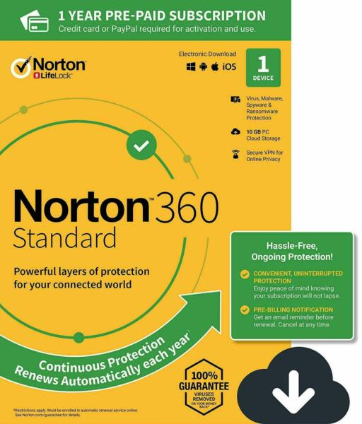 Royaume-UniNorton 360  2020 1 Device 1 PC 1 Year +Secure VPN Internet Security 2019