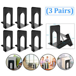 Kyпить Metal Library Bookends Book Support Organizer Bookends Shelves Office 6 Piece на еВаy.соm