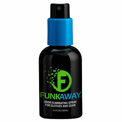 FUNK AWAY ODOR ELIMINATING SPRAY 3.4 OZ AUTO FABRIC SHOES CLOTHES SPORTS CLEATS
