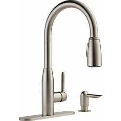 Kyпить Peerless Single-Handle Kitchen Sink Faucet with Pull Sprayer and Soap Dispenser на еВаy.соm