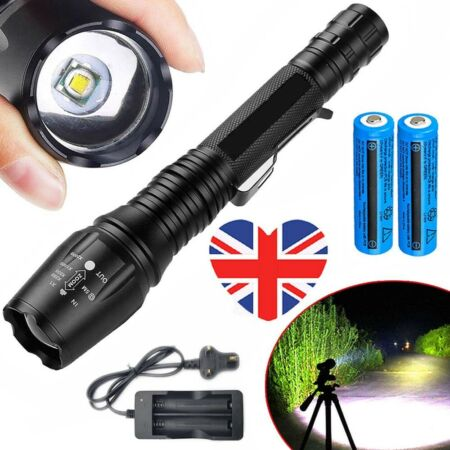 img-Ultra Brightest 990000lm Flashlight T6 LED Military Tactical Torch 5x Zoomable