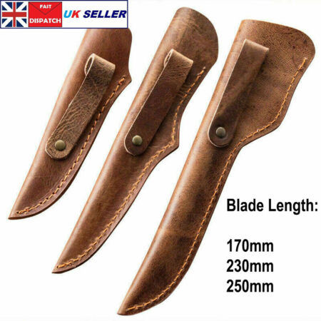 img-Genuine Leather Knife Sheath Hunting Dagger Cover Holder Kitchen Cow Leather
