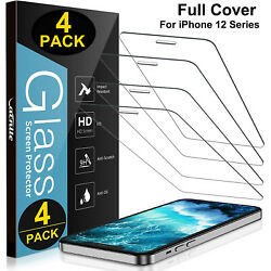 Kyпить 4 Pack iPhone 12 Pro max mini iPhone 12 Pro Max Tempered Glass Screen Protector на еВаy.соm
