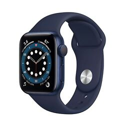 Kyпить Apple Watch Series 6 44mm Blue Aluminum Case with Deep Navy Sport Band - NEW на еВаy.соm
