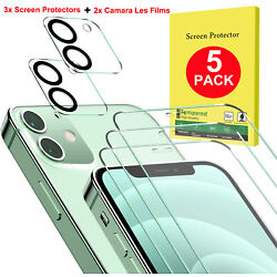 Kyпить Tempered Glass Screen Protector + Camera Lens Film For iPhone 12 Pro Max Mini 12 на еВаy.соm