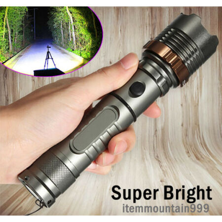 img-High Power 900000LM Flashlight T6 LED Tactical Police 18650 Torch Lamp Zoomable