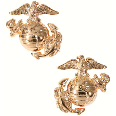 img-usmc insignia marine corps pins for uniform use gold plated globe & anchor 1548