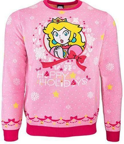 Royaume-UniOfficial Numskull  Princess Peach Christmas Xmas Jumper UK M US S New