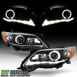 Kyпить For Black 2011-2013 Toyota Corolla LED Tube Halo Projector Headlights Left+Right на еВаy.соm