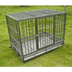 Kyпить Commercial Quality Heavy Duty Pet Dog Cage Crate Kennel wWheels Hammigrid 42