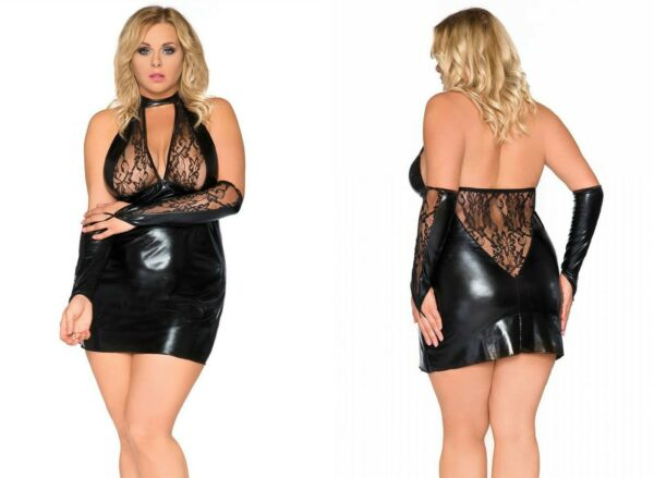 AllemagneSexy Andalea Sb / 1001 Chemise Noir 38-56  Sexy Femmes Grandes Tailles