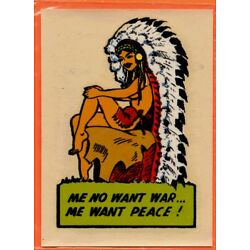 Kyпить Vintage Decal, Me No Want War, Me Want Peace, circa 1950s на еВаy.соm
