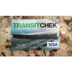 Kyпить TRANSITCHEK Visa Card--$229.50 Balance на еВаy.соm