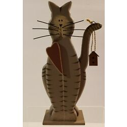 Kyпить Painted Wood Country Cat Figurine  на еВаy.соm