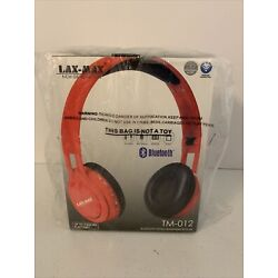 Lax-Max Bluetooth Stereo Headphone With Mic In Red