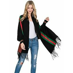 Kyпить Striped Poncho Shawl на еВаy.соm