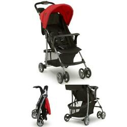 Classic Stroller, Extendable Canopy, Multi-Position Seat with 5-point Harness