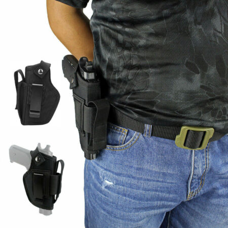 img-Universal Left Right Hand Gun Holster Airsoft Tactical Concealed Carry Belt Clip