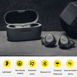 Kyпить Jabra Elite 75t True Wireless Bluetooth Headphones Titanium Black In Ear replica на еВаy.соm