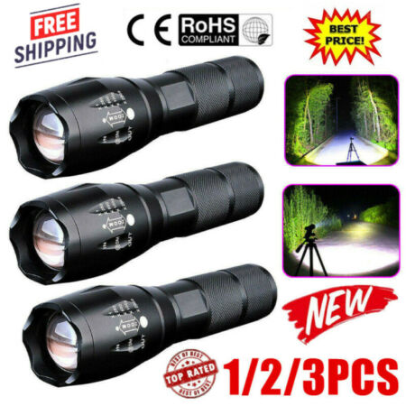 img-Police 90000LM T6 LED Super Bright Zoom Flashlight Powerful Camping Lamp Torch #