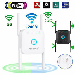 Kyпить 1200Mbps WiFi Extender Signal Range Booster Wireless Dual Band Network Repeater на еВаy.соm