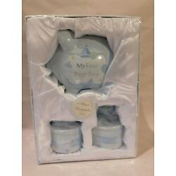 Kyпить Baby Boy My First Keepsake Photo Box Gift Set Piggy Bank Tooth Box Curl Box на еВаy.соm