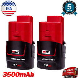 2x NEW For MILWAUKEE M12 48-11-2401 12 Volt 3.5Ah Lithium Ion Battery 48-11-2420